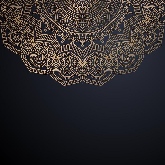 Роскошный декоративный фон мандалы Бесплатные векторы