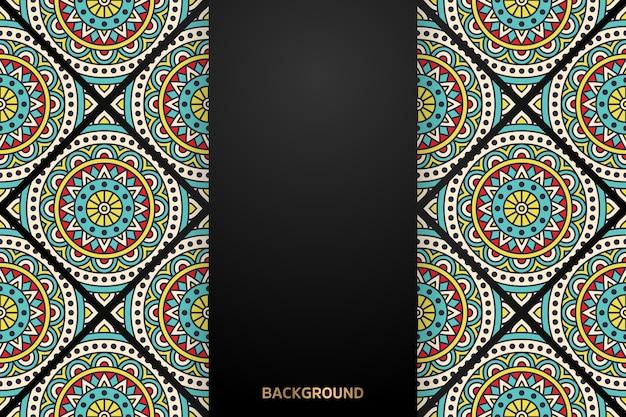 Роскошный декоративный фон дизайна мандалы Бесплатные векторы