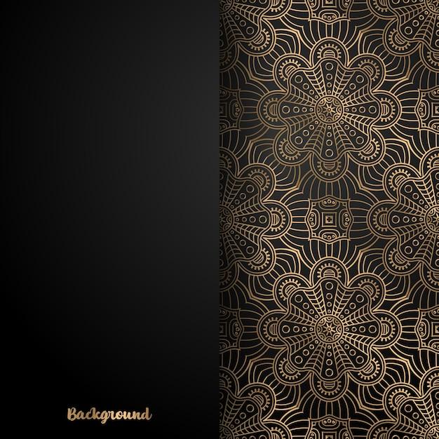 Priorità bassa di disegno della mandala ornamentale di lusso Vettore gratuito