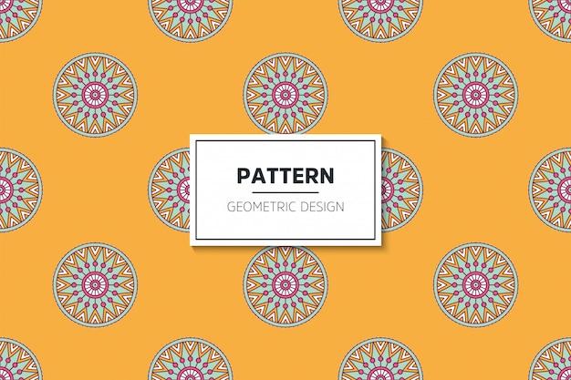 豪華な装飾的なマンダラデザインゴールドカラーベクトルのシームレスパターン 無料ベクター