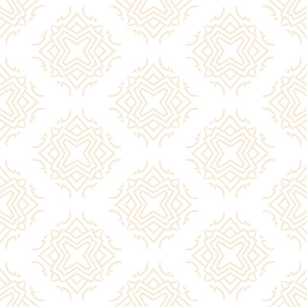 골드 컬러로 럭셔리 장식 만다라 디자인 완벽 한 패턴 무료 벡터