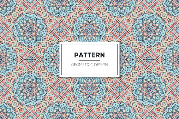 Luxury ornamental mandala design seamless pattern Free Vector