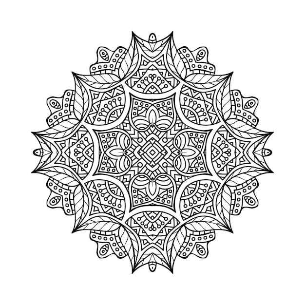 Luxury ornamental mandala illustration Free Vector