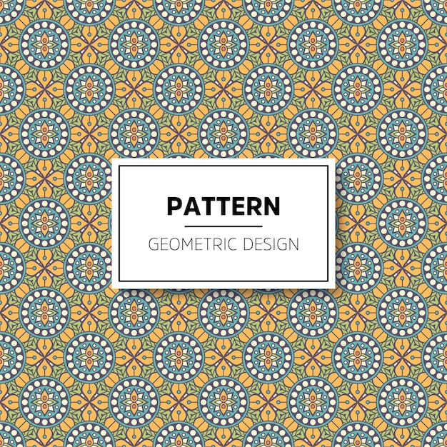 Luxury ornamental mandala pattern background Premium Vector