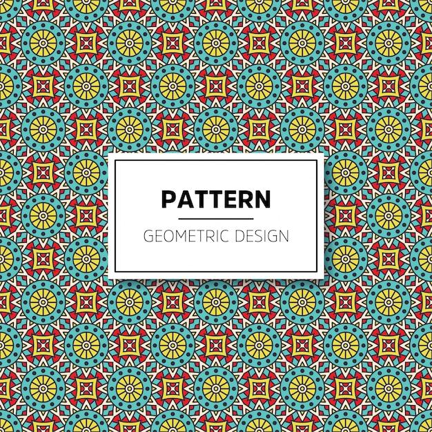 Luxury ornamental mandala pattern background Free Vector