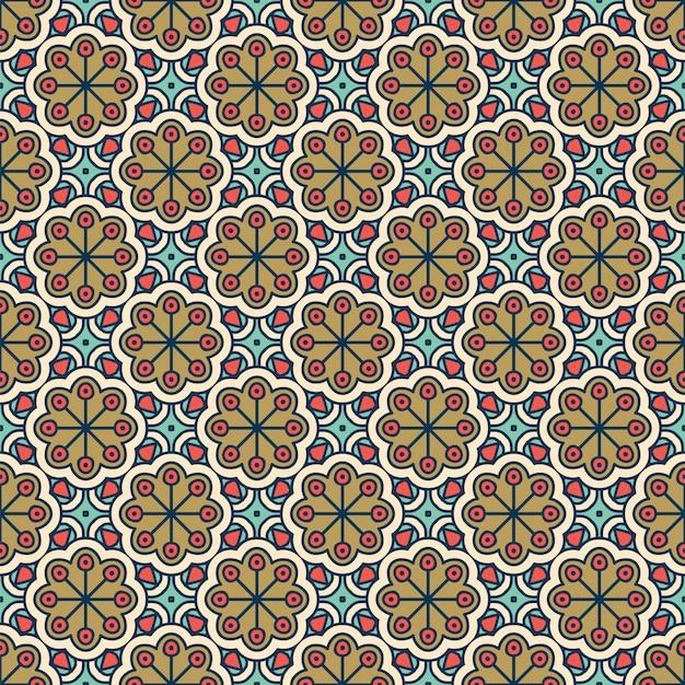 Роскошный орнаментальный узор мандалы Бесплатные векторы