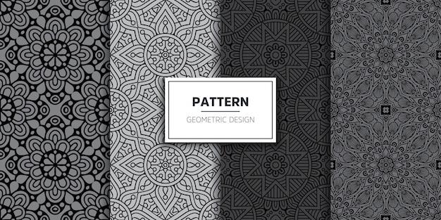 Luxury ornamental mandala seamless pattern Free Vector