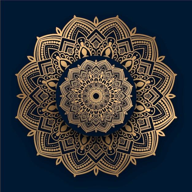 Luxury ornamental mandala   with golden islamic pattern Premium Vector
