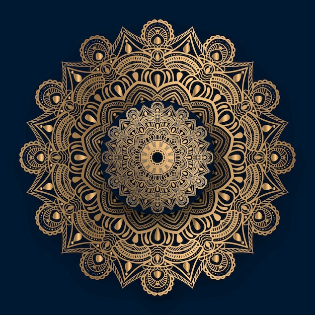 Luxury ornamental mandala   with golden islamic pattern Premium Vector