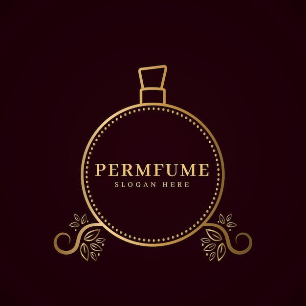 Luxury perfume logo concept Free Vector