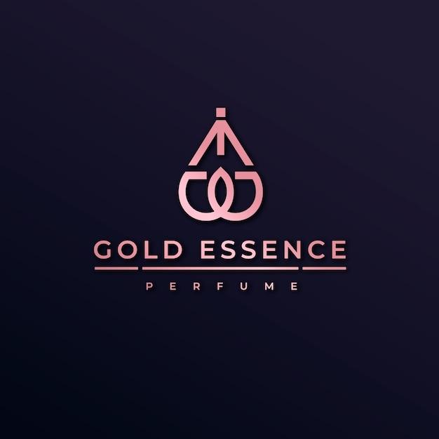 Luxury perfume logo Free Vector