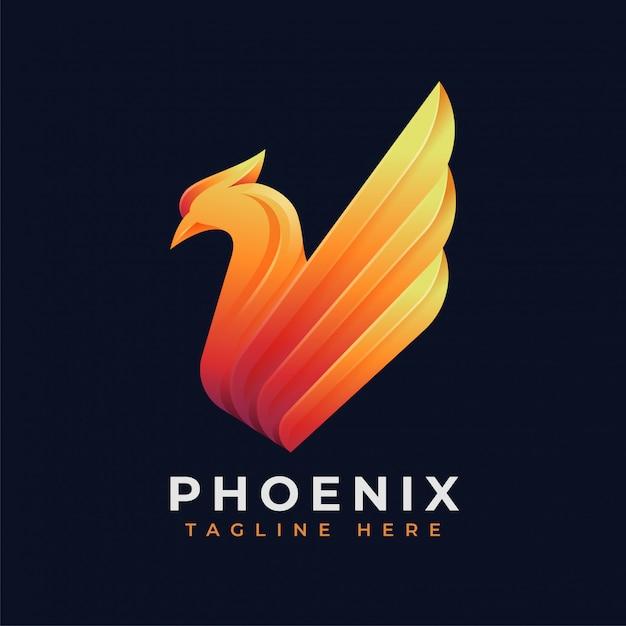 高級フェニックスのロゴのコンセプト Premiumベクター
