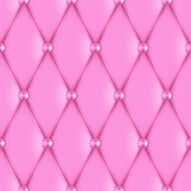 Роскошная розовая кожаная обивка бесшовные модели Premium векторы