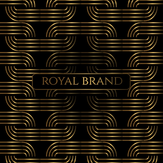 Luxury premium background with gold color Premium Vector