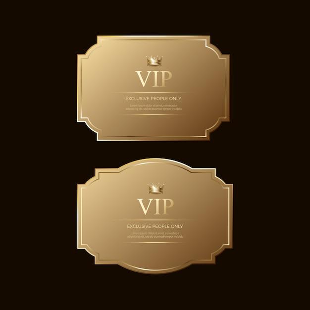 Luxury premium golden badges and labels Premium Vector