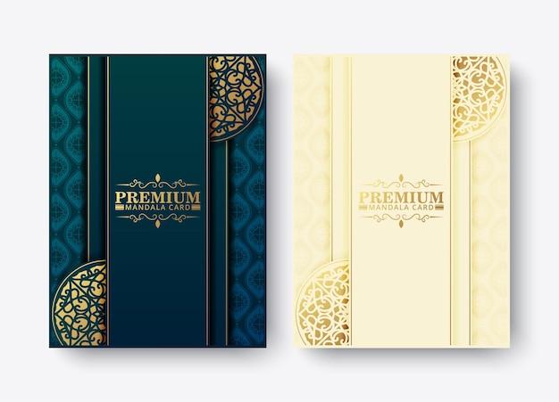 Роскошный премиум дизайн меню мандалы Premium векторы