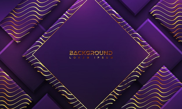 Luxury purple background with a combination lines. Premium Vector