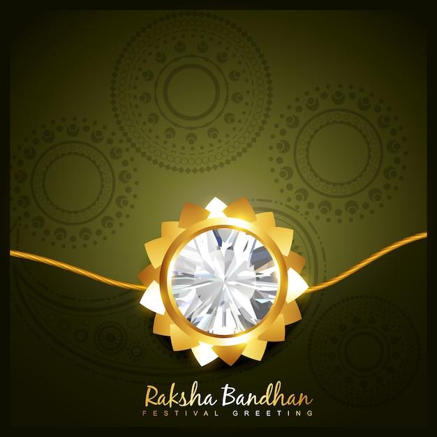 Luxury raksha bandhan design Premium Vector