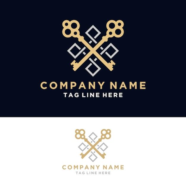 Luxury real estate logo Premium Vector
