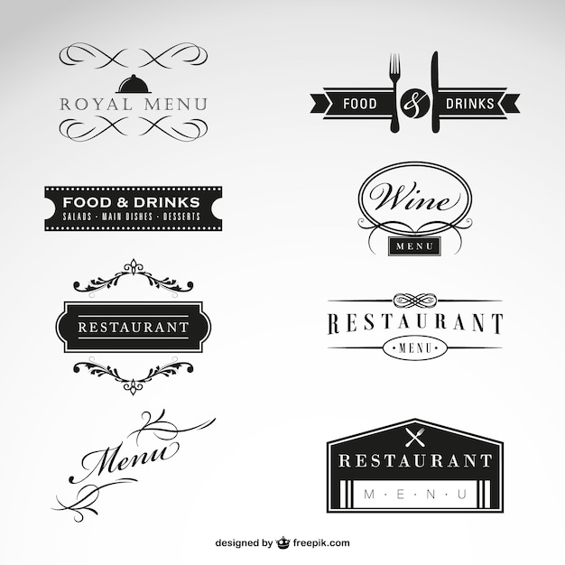 Luxury restaurant logo Free Vector