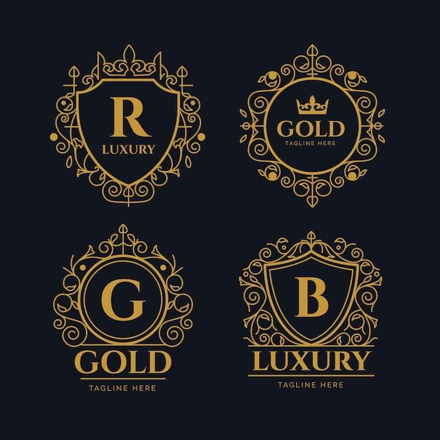 Luxury retro logo collection Premium Vector