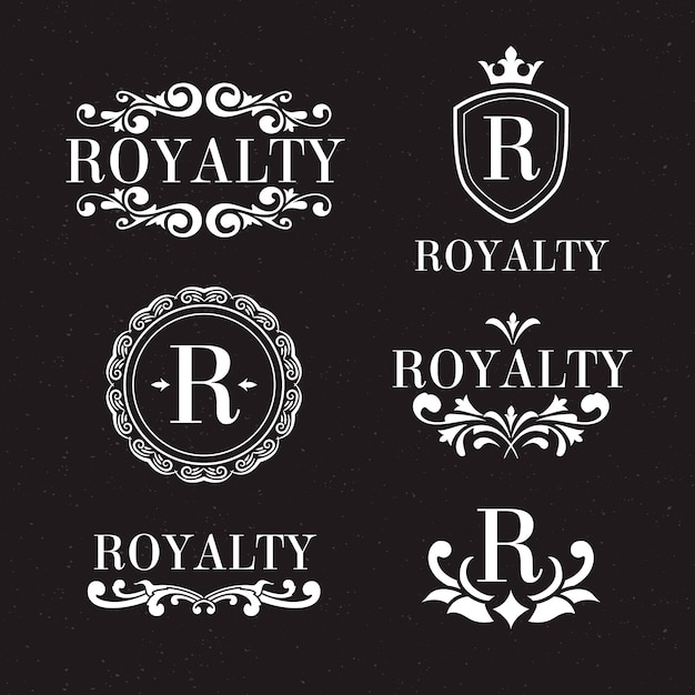 Luxury retro logo set Free Vector