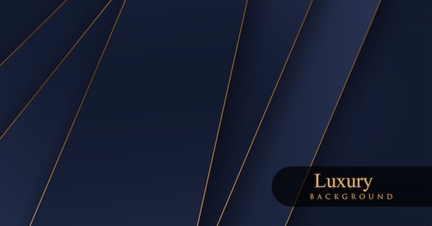 Luxury royal golden and blue backgrounds Premium Vector