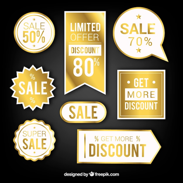 Good Luxury Sale Sticker Collection Vector | Free Download