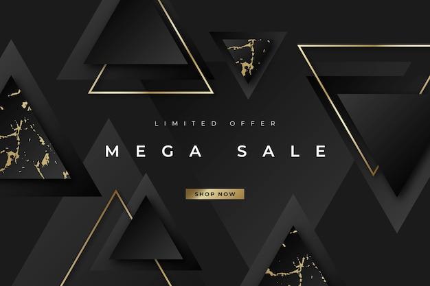 Carta da parati di vendita di lusso con elementi dorati Vettore gratuito