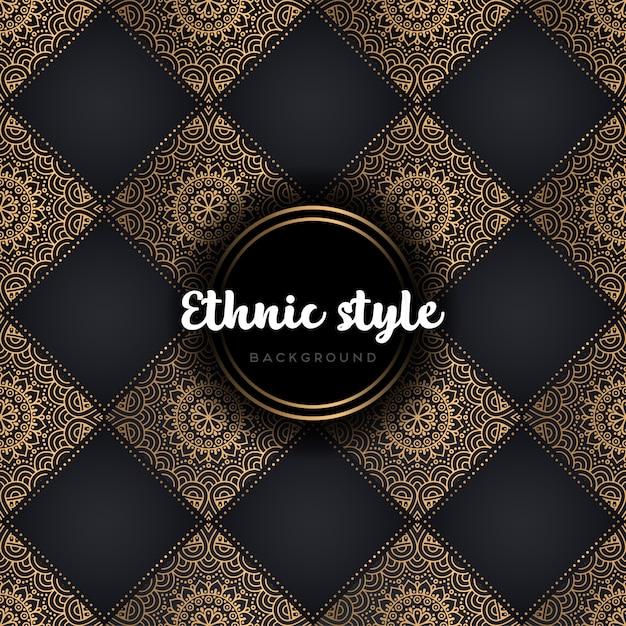 Luxury seamless pattern mandala Free Vector