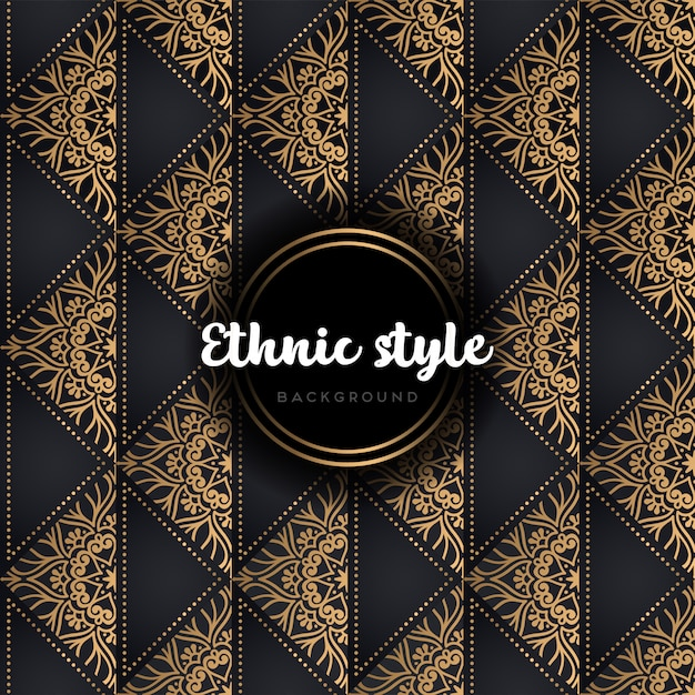 Luxury seamless vector pattern gold and black Free Vector