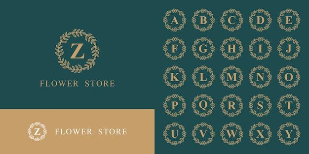 アルファベットモノグラムロゴコレクションの豪華なセット Premiumベクター