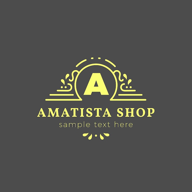 Luxury shop logo template