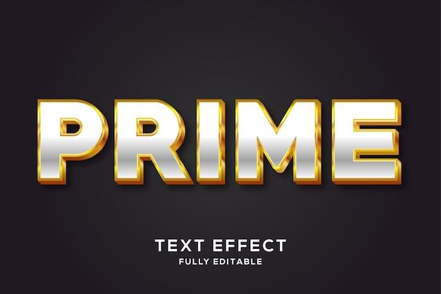 Роскошный серебряный и золотой эффект 3d-текста Premium векторы