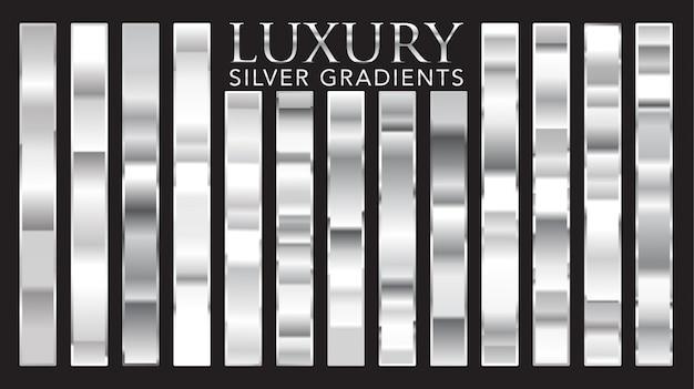 Роскошные серебряные градиенты Premium векторы