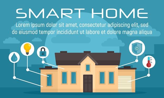 Luxury smart home concept banner Premium Vector