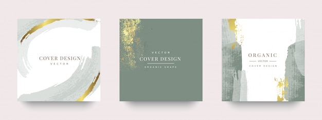 Luxury social story and post cover design Premium Vector