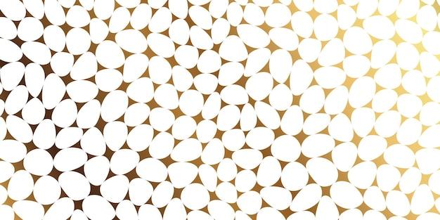 Luxury stone pebble mosaic seamless pattern Free Vector