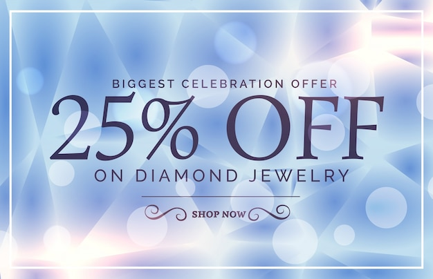 luxury style sale poster design for jewelry brand Premium Vector