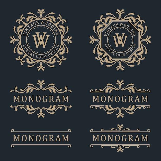 Luxury template logo design Premium Vector