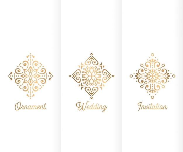 Luxury trifold wedding template Vector Free Download