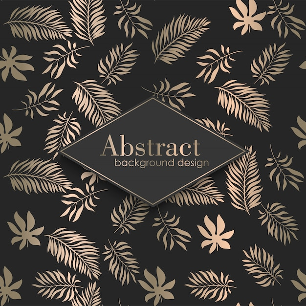 Luxury tropical pattern Free Vector