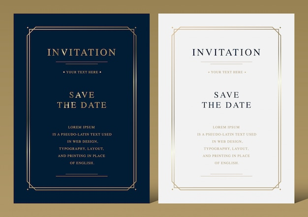 Invitation Vectors Photos And Psd Files Free Download