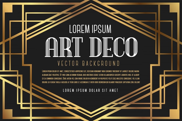 Luxury vintage artdeco frame Premium Vector