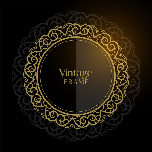 Luxury vintage circular frame background Free Vector