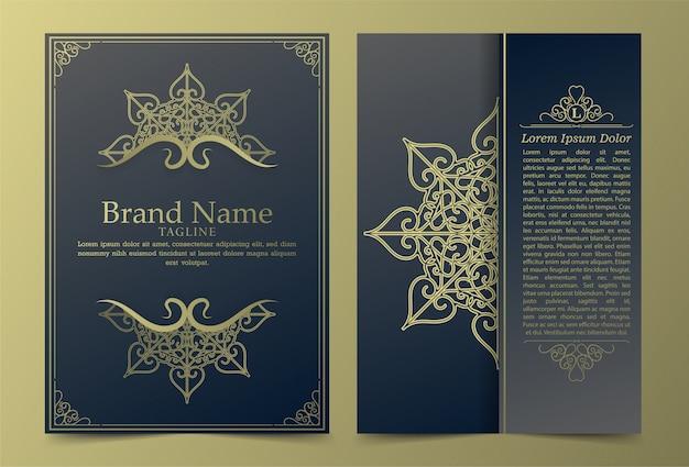 Luxury vintage ornate covers in oriental style with mandala Premium Vector