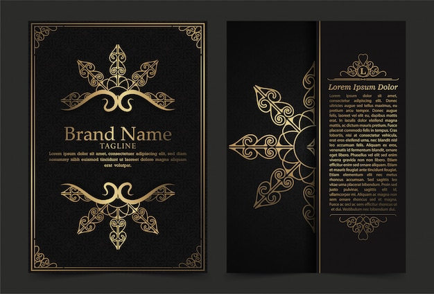 Luxury vintage ornate covers in oriental style with mandala Premium Vector