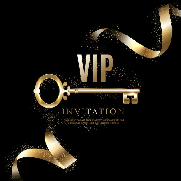 Luxury vip invitations and coupon backgrounds Premium Vector