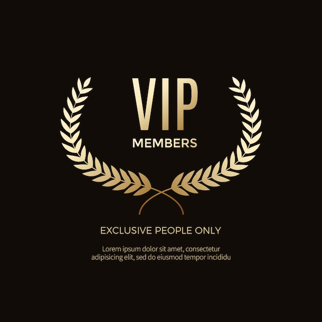 Luxury vip labels and objects Premium Vector