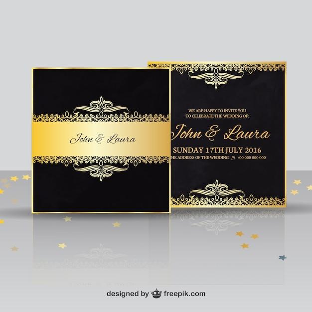 Luxury Wedding Invitation Vector Premium Download